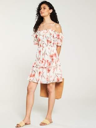 Very Printed Bardot Mini Dress - Floral