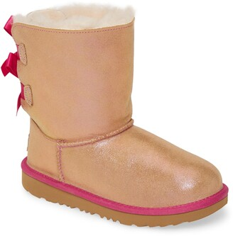 UGG Bailey Bow Genuine Shearling Shimmer Boot