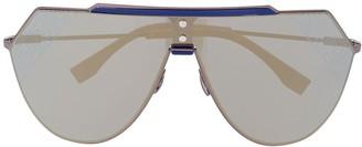 Fendi Eyewear FF-print shield sunglasses