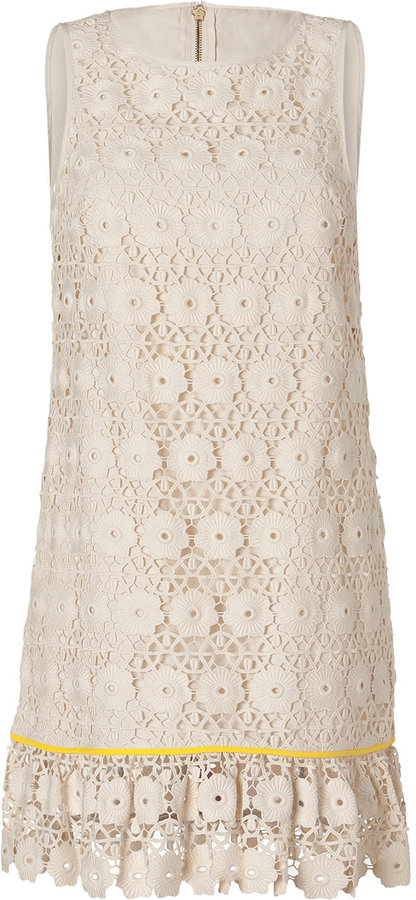 Juicy Couture Ivory Blossom Daisy Lace Guipure Dress