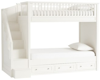 Pottery Barn Kids Fillmore Twin-over-Twin Stair Bunk Bed