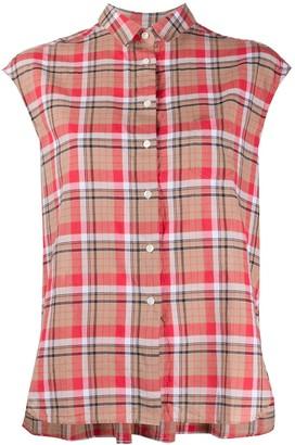 Aspesi Sleeveless Check Shirt