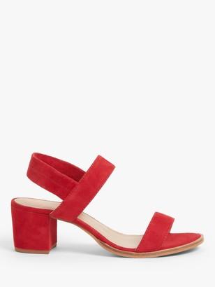 John Lewis & Partners Jasmin Suede Block Heel Sandals