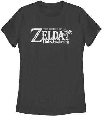Nintendo Juniors' Legend Of Zelda Link's Awakening Logo Tee