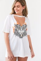 Truly Madly Deeply Cut-Out Moto Tee
