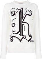 Christopher Kane logo crew neck sweater
