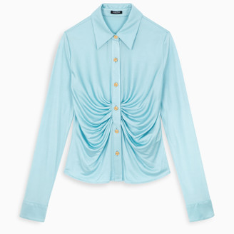 Versace Light blue viscose shirt