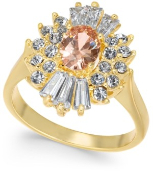 Charter Club Gold Plate Cubic Zirconia & Stone Ring, Created for Macy's