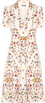 Alexander McQueen Obsession Printed Crepe Dress - Ivory