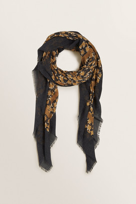 Seed Heritage Faded Floral Square Scarf
