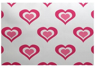 The Holiday Aisle Valentine's Day Handwoven Fuchsia Rug Rug Size: Rectangle 2' x 3'
