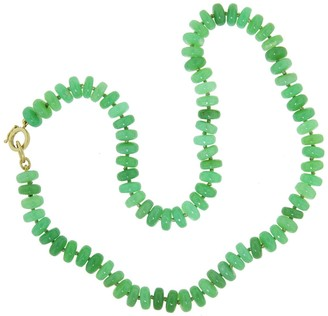 Irene Neuwirth 8mm Chrysoprase Beaded Yellow Gold Necklace