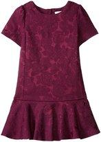 Kate Spade Drop Waist Dress (Toddler/Kid) - Midnight Wine - 4