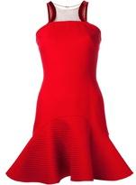David Koma leather trim dress