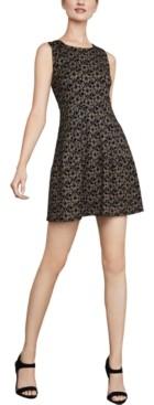 BCBGMAXAZRIA Lace-Knit A-Line Dress