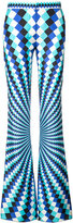 Mary Katrantzou checkerboard flared trousers - women - Silk - 6