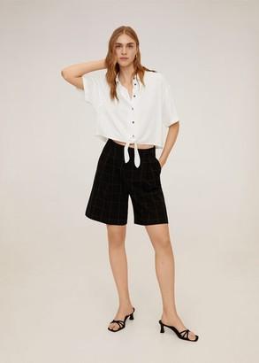 MANGO Knot shirt off white - 2 - Women
