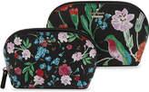 Kate Spade Cameron Street Abelene Jardin two piece leather cosmetic bag set
