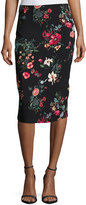 Rebecca Taylor Meadow Floral-Print Pencil Skirt