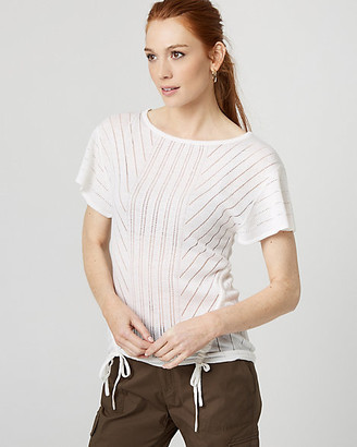 Le Château Open-Stitch Drawstring Sweater