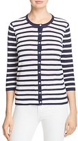 Foxcroft Bev Mixed Stripe Cardigan