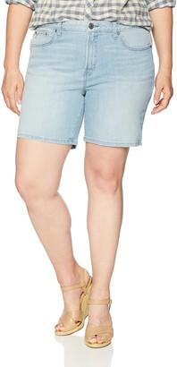 Rebel Wilson X Angels Women's Plus Size The Starling Mid Rise Boyfriend Shorts