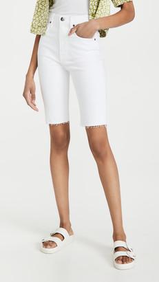 Frame Le Vintage Bermuda Raw Edge Shorts