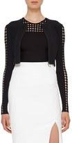 Akris Punto Women's Dot Cutout Sleeve Knit Cardigan