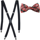 Jf J.Ferrar JF Fashion Plaid Bow Tie and Suspender Set