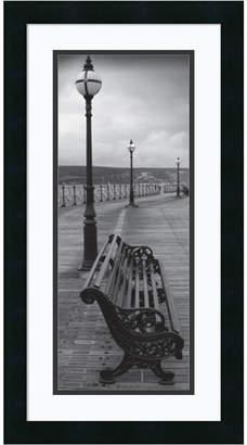 Amanti Art Bench On The Boardwalk Framed Art Print