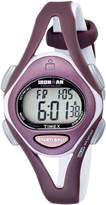 Timex Women's T5K007 Ironman Sleek 50-Lap Plum/Gray Resin Strap Watch