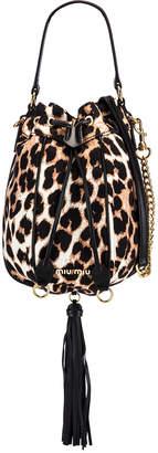 Miu Miu Leopard Pouch Bag in Ivory | FWRD