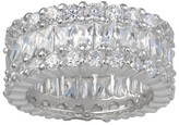 Journee Collection 11 1/5 CT. T.W. Round-Cut Cubic Zirconia Basket Set Wedding Band in Sterling Silver - Silver