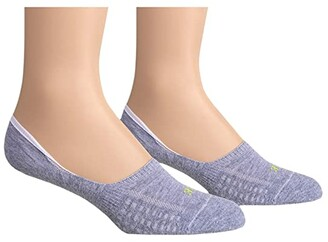 Hue Air Cushion No Show Liner Socks 3-Pair Pack (Light/Charcoal/Heather) Women's No Show Socks Shoes