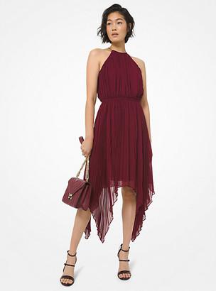 MICHAEL Michael Kors MK Georgette Handkerchief Dress - Dark Ruby - Michael Kors