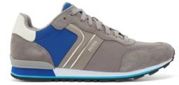 HUGO BOSS Running-style trainers with suede and mesh