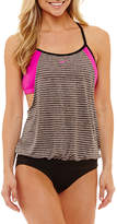 Nike Stripe Blouson Swimsuit Top