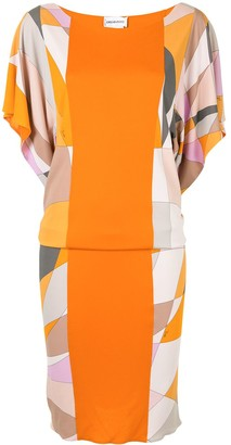 Emilio Pucci Pre-Owned Geometric Print Panelled Dress