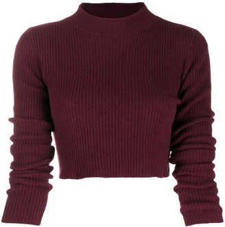 Andamane Ribbed-Knit Cropped Jumper