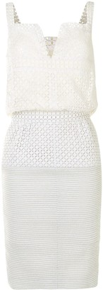 Chanel Pre Owned Geometric Cut-Out Short Dress