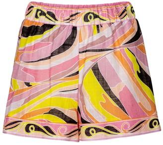 Emilio Pucci Beach Printed cotton shorts