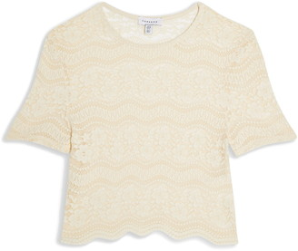 Topshop Scalloped Lace Crop Top