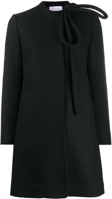 RED Valentino Bow-Detail Single-Breasted Coat