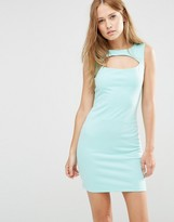 Pussycat London Shift Dress With Cut Out Detail