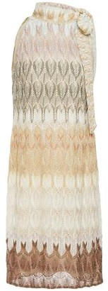 Missoni Tie-neck Metallic Crochet-knit Dress