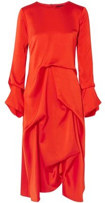 Sies Marjan Noemi Draped Satin-crepe Midi Dress