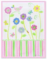 Stupell Industries The Kids Room by Stupell Bird on Flower Rectangle Wall Plaque