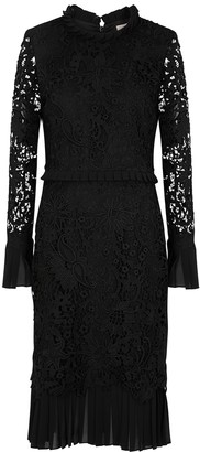 Tory Burch Black guipure lace midi dress