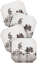 DENY Designs Bree Madden Snowy lake Coaster Set