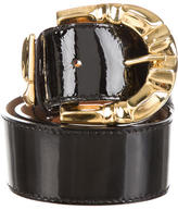 Roberto Cavalli Patent Leather Waist Belt